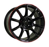 OW1012 GLOSSY BLACK RED LINE RIVA RED Off Road Wheels WID26307