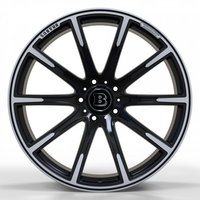 MR1115 SATIN BLACK WITH MACHINED FACE FORGED Replica FORGED WID28001