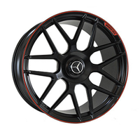 MR957 SATIN-BLACK-WITH-RED-STRIP FORGED Replica FORGED WID17548