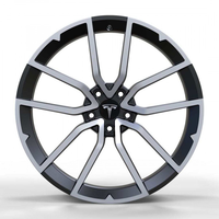 TES1340 GLOSS-BLACK-WITH-MACHINED-FACE FORGED Replica FORGED WID28119