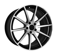 F-190 MATTE-BLACK-WITH-MACHINED-FACE Vissol Forged WID26110