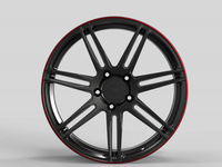 WS2269 SATIN BLACK RED LIP FORGED WS FORGED WID28029